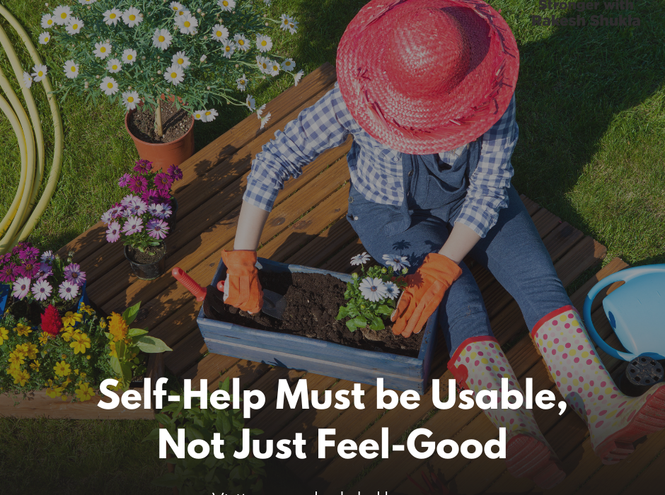 Self-Help Must be Usable, Not Just Feel-Good