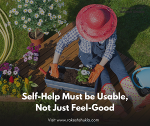 Self-help must be 'Usable', not just 'Feelgood'